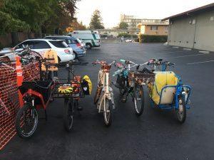 Cargo Bikes outside BSCC