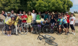Chris, Liz and some of the 2013 Butano bikepackers